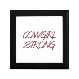 TEE Cowgirl Strong Small Square Gift Box