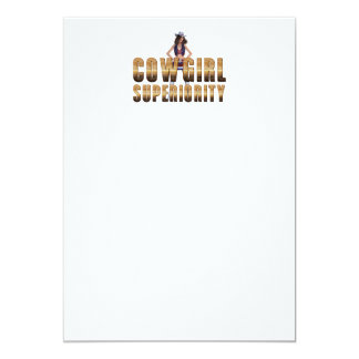 TEE Cowgirl Superiority Card