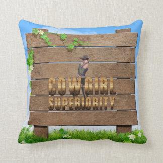 TEE Cowgirl Superiority Cushion