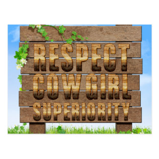 TEE Cowgirl Superiority Postcard