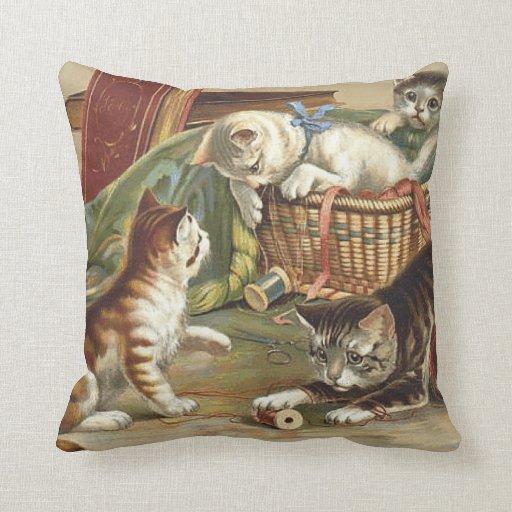 TEE Curious Cat Pillow