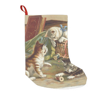 TEE Curious Cat Small Christmas Stocking