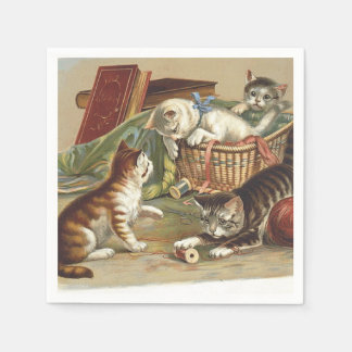 TEE Curious Cat Disposable Napkins