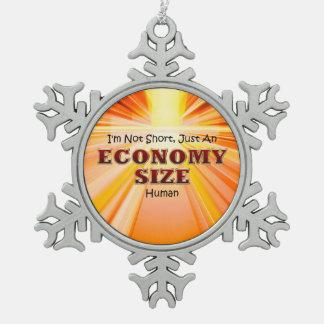 TEE Economy Size Snowflake Pewter Christmas Ornament