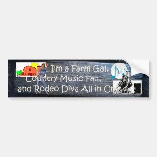 TEE Farm Diva Bumper Sticker