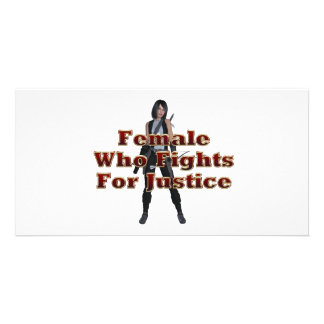 TEE Female Justice Personalised Photo Card