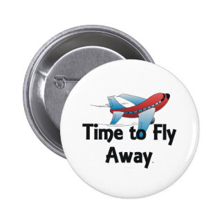 TEE Fly Away 6 Cm Round Badge