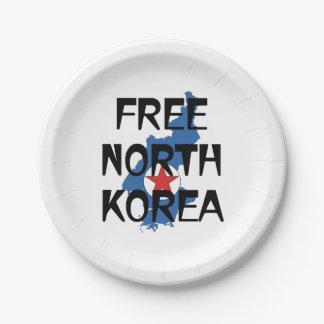 TEE Free North Korea 7 Inch Paper Plate