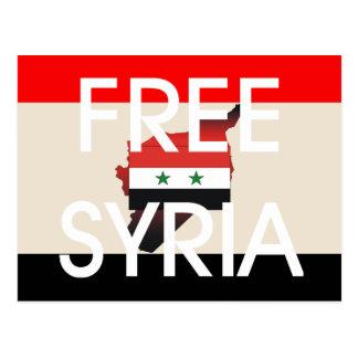 TEE Free Syria Postcard