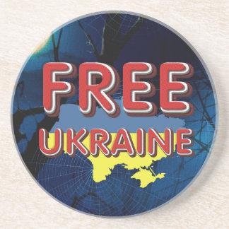 TEE Free Ukraine Beverage Coaster