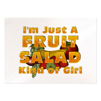 TEE Fruit Salad Girl Large Business Cards (Pack Of 100)