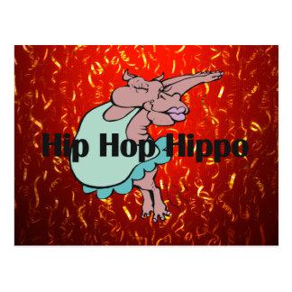 TEE Hip Hop Hippo Postcard