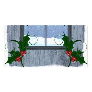 TEE Holly Winter Customized Photo Card