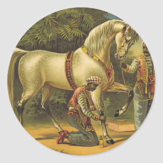 TEE Horse Royalty Classic Round Sticker