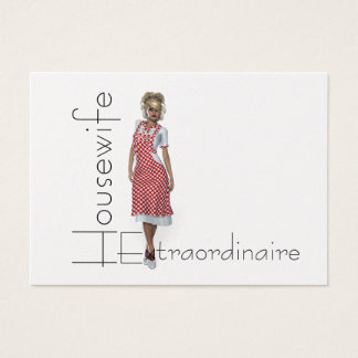 TEE Housewife Extraordinaire Business Card