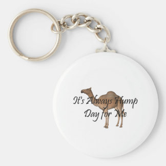 TEE Hump Day Basic Round Button Key Ring