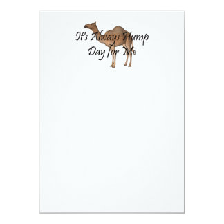 TEE Hump Day 5x7 Paper Invitation Card