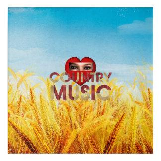 TEE I Love Country Music Acrylic Wall Art