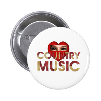 TEE I Love Country Music Pin