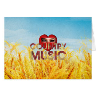 TEE I Love Country Music Card