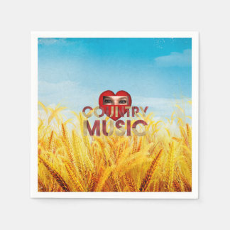 TEE I Love Country Music Disposable Napkins