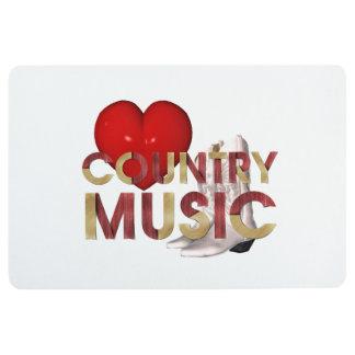 TEE I Love Country Music Floor Mat