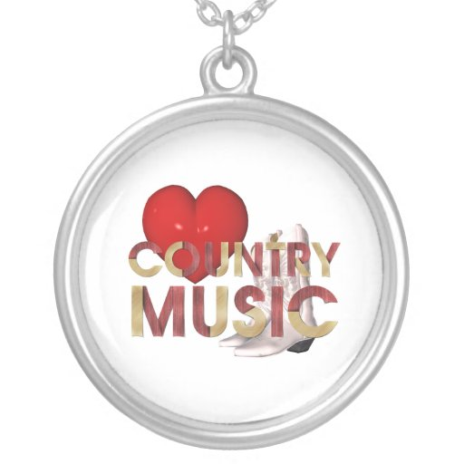 TEE I Love Country Music Necklace
