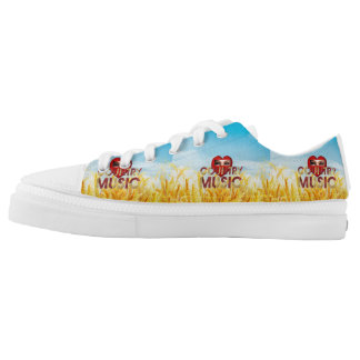 TEE I Love Country Music Printed Shoes