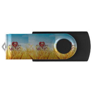TEE I Love Country Music Swivel USB 2.0 Flash Drive