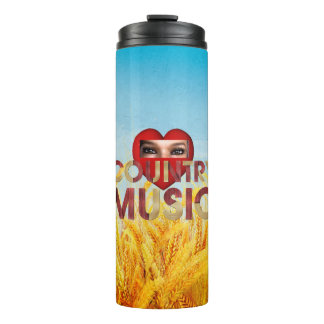 TEE I Love Country Music Thermal Tumbler