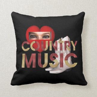 TEE I Love Country Music Throw Cushion