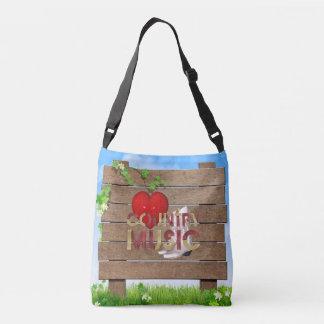 TEE I Love Country Music Tote Bag
