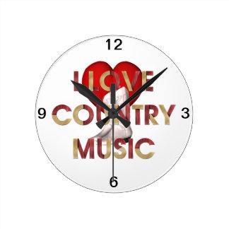 TEE I Love Country Music Wallclocks