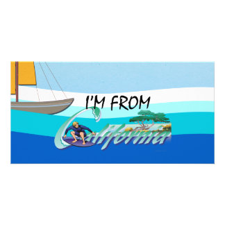 TEE I'm from California Photo Greeting Card