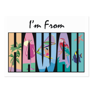 TEE I'm From Hawaii Business Card Template
