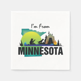 TEE I'm from Minnesota Disposable Serviette