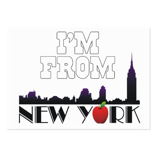 TEE I'm From New York Business Card