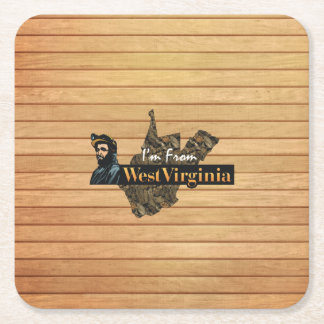 TEE I'm from West Virginia Square Paper Coaster
