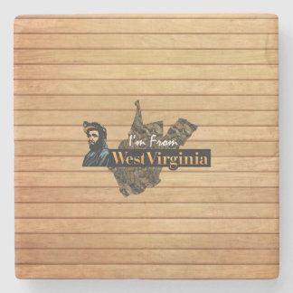TEE I'm from West Virginia Stone Coaster