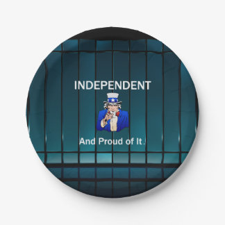 TEE Independent and Proud of It Paper Plate
