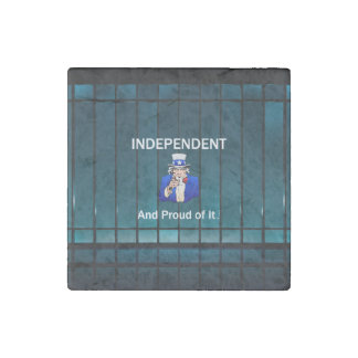 TEE Independent and Proud of It Stone Magnet