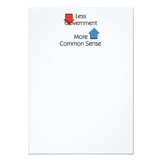 TEE Less Government 13 Cm X 18 Cm Invitation Card