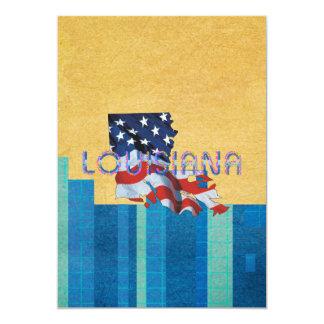 TEE Louisiana Patriot 13 Cm X 18 Cm Invitation Card
