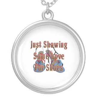 TEE Love for Shoes Round Pendant Necklace
