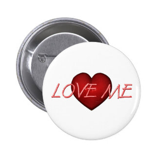 TEE Love Me 6 Cm Round Badge