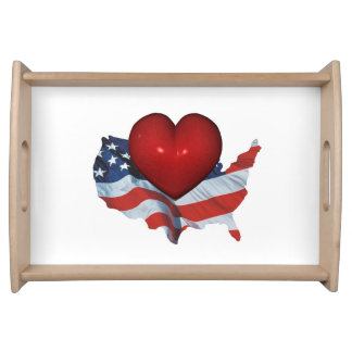 TEE Love My Country Food Trays
