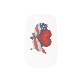 TEE Love My Country Nails Stickers