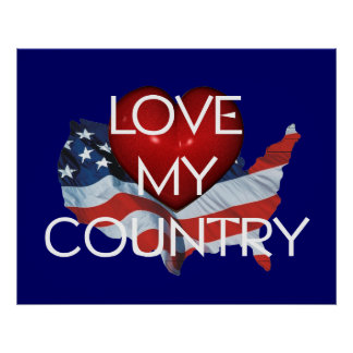 TEE Love My Country Poster