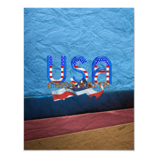 TEE Massachusetts Patriot 11 Cm X 14 Cm Invitation Card