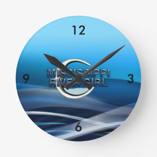 TEE Mississippi River Girl Round Clock